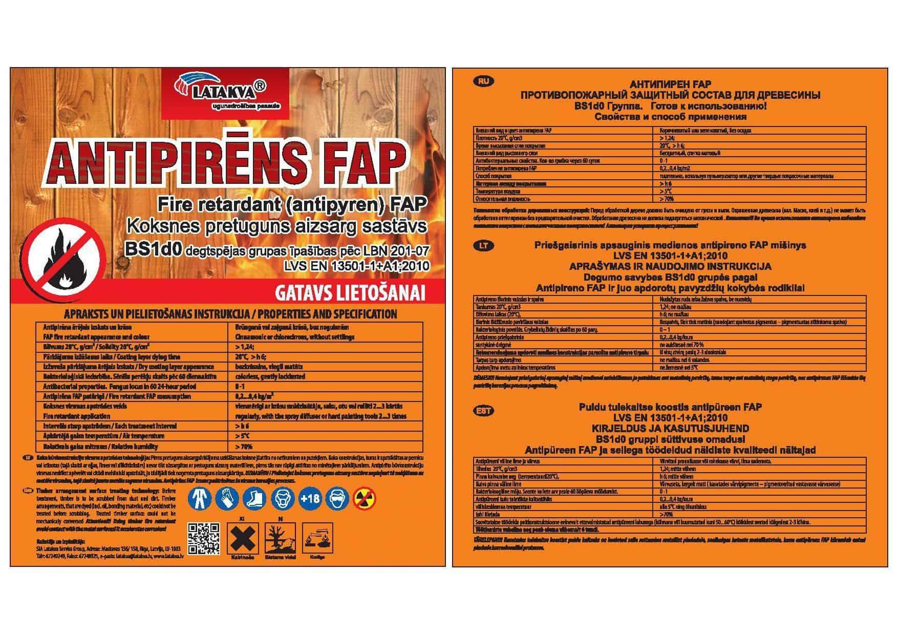 Antipirēns FAP (izlejams)