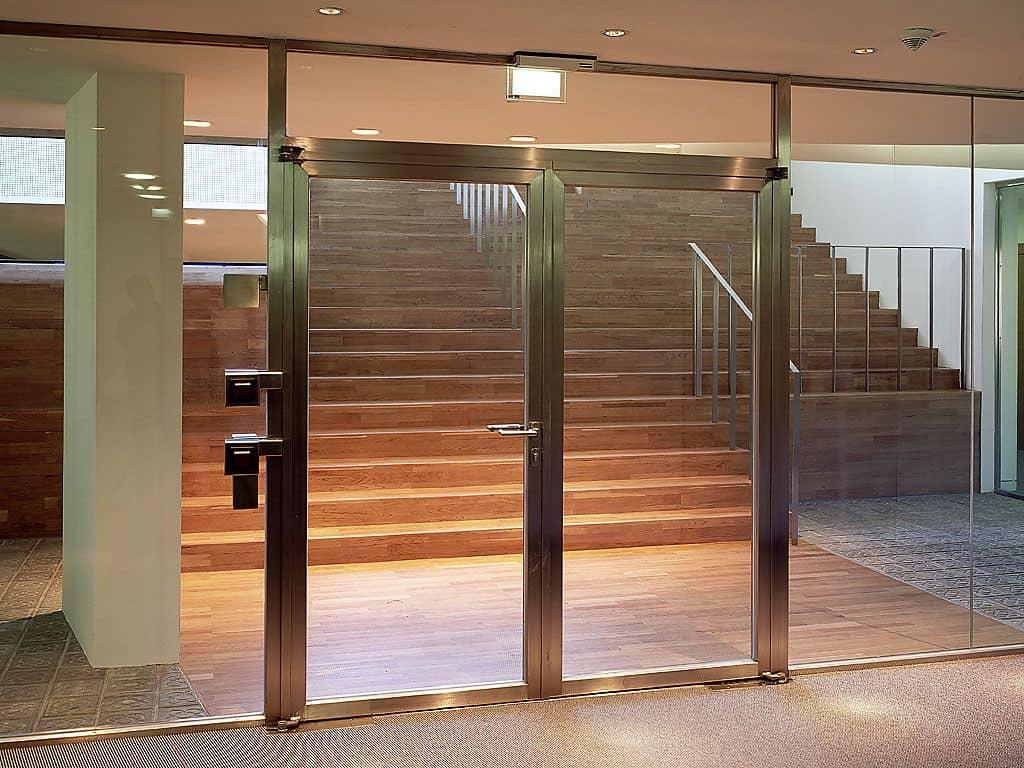 Fireproof Glass Door Steel Frame Double Doors