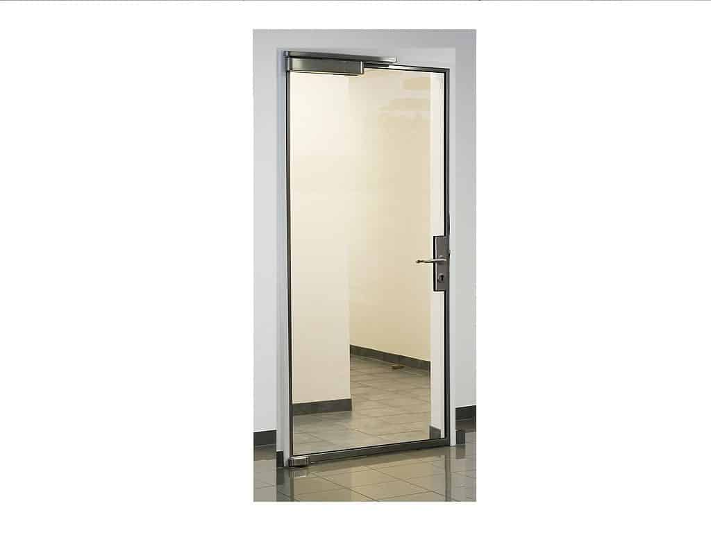 Fireproof glass door, light stainless steel frame (Single door ...