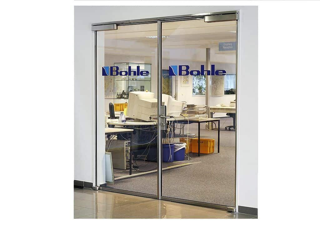 Fireproof Glass Door, Light Stainless Steel Frame (Double Doors)