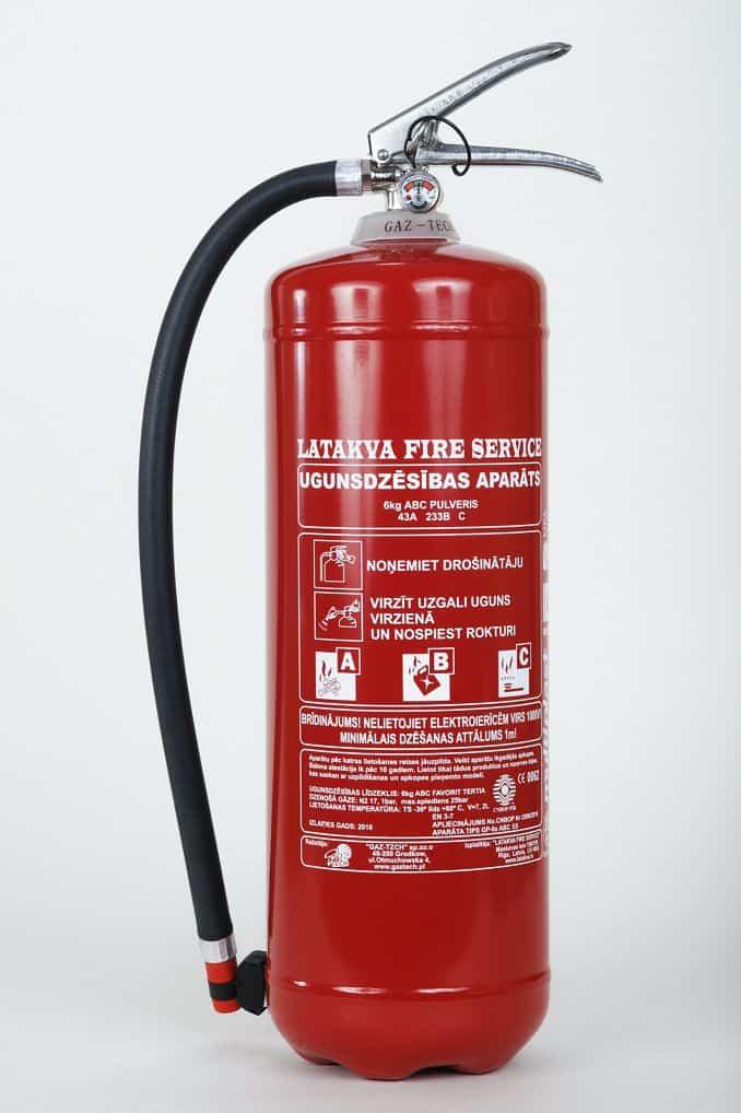 Pulvera ugunsdzēsības aparāts